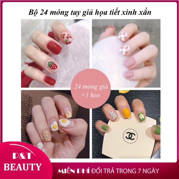 [SẴN KEO] Hộp 24 móng tay giả NAIL BOX đẹp ngắn vuông có keo sẵn móng úp dán làm nail nghệ thuật nhiều mẫu xinh xắn - P&T Beauty cao cấp