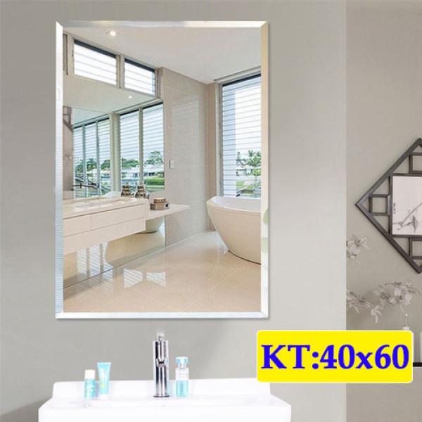 Gương soi nhà tắm mài vát cạnh treo tường kích thước 40x60 - guonghoangkim - Mirror