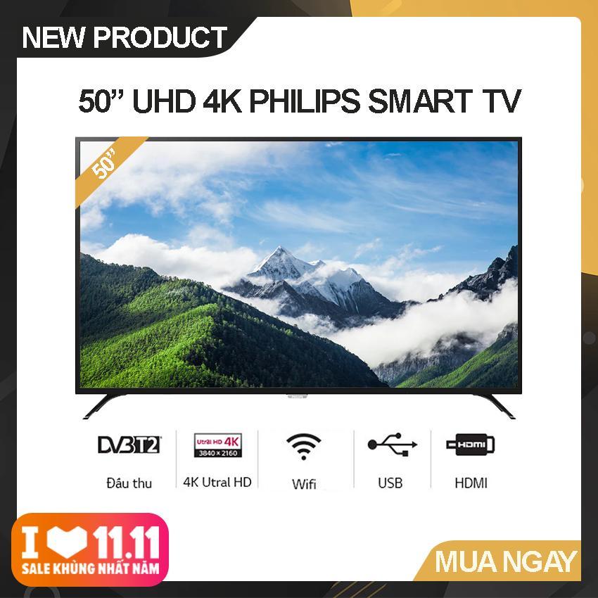 Bảng giá Smart Tivi Led Philips 50 inch Ultra HD 4K - Model 50PUT6023S/74 (Đen) Công nghệ hình ảnh Pixel Plus Utra HD, Tích hợp DVB-T2 Wifi - Bảo Hành 2 Năm