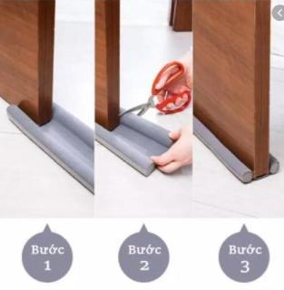 Tấm chèn khe cửa ngăn gió lùa máy lạnh, chống bụi bẩn và côn trùng dài 93cm dễ dàng lắp đặt, cắt ghép để vừa với cửa mọi gia đình, chất liệu mút xốp đặc tuổi thọ cao, có thể tháo ra giặt được thumbnail