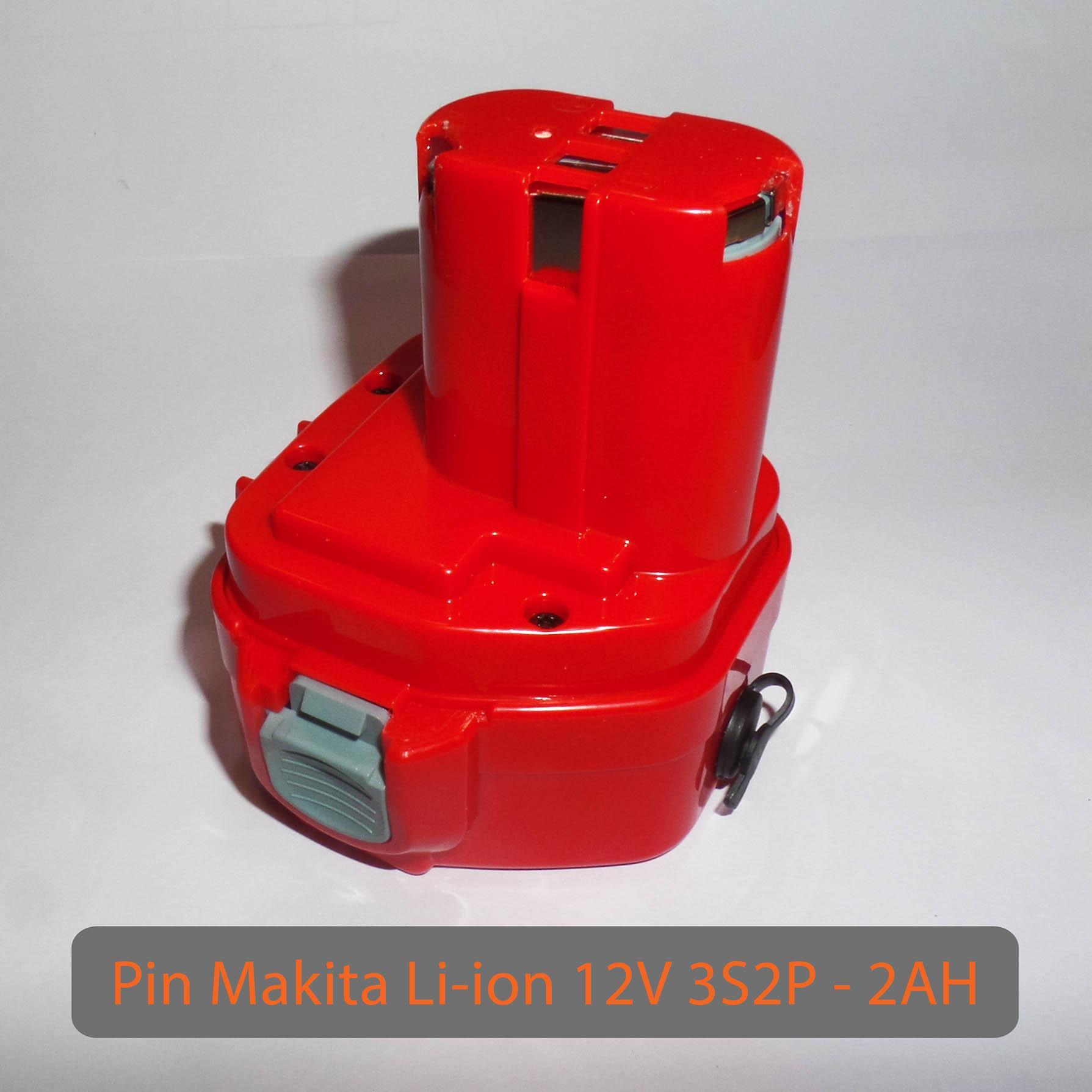 PIN MAKITA 12V Li-ion LiShen 3S1P - dung lượng 2AH - Dòng xả 20A -Mạch bảo vệ và sạc cân bằng