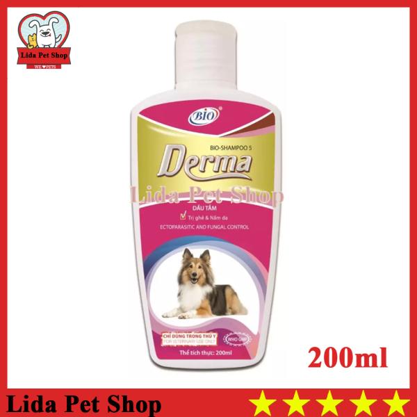 [Lấy mã giảm thêm 30%]HN- Sữa tắm diệt ve ghẻ nấm da cho chó mèo - Bio Derma 200ml - Lida Pet Shop