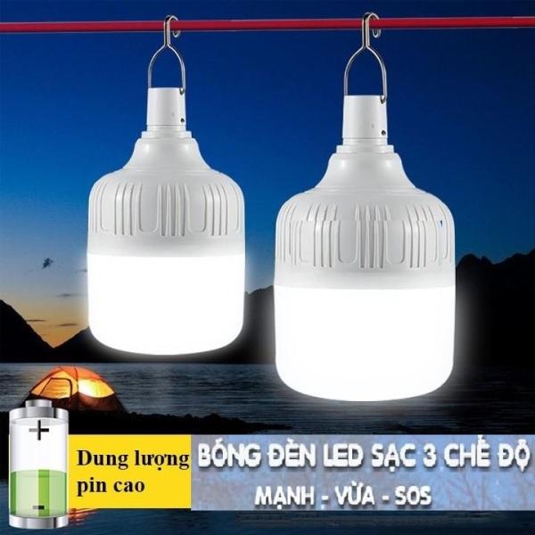 Bóng đèn LED sạc tích điện 50w 3 chế độ, bóng đèn tích điện, đèn sạc, bóng đèn thông minh