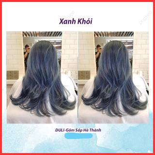 Thuốc nhuộm tóc Xanh khói Blue smoke kèm oxy trợ nhuộm găng tay thumbnail