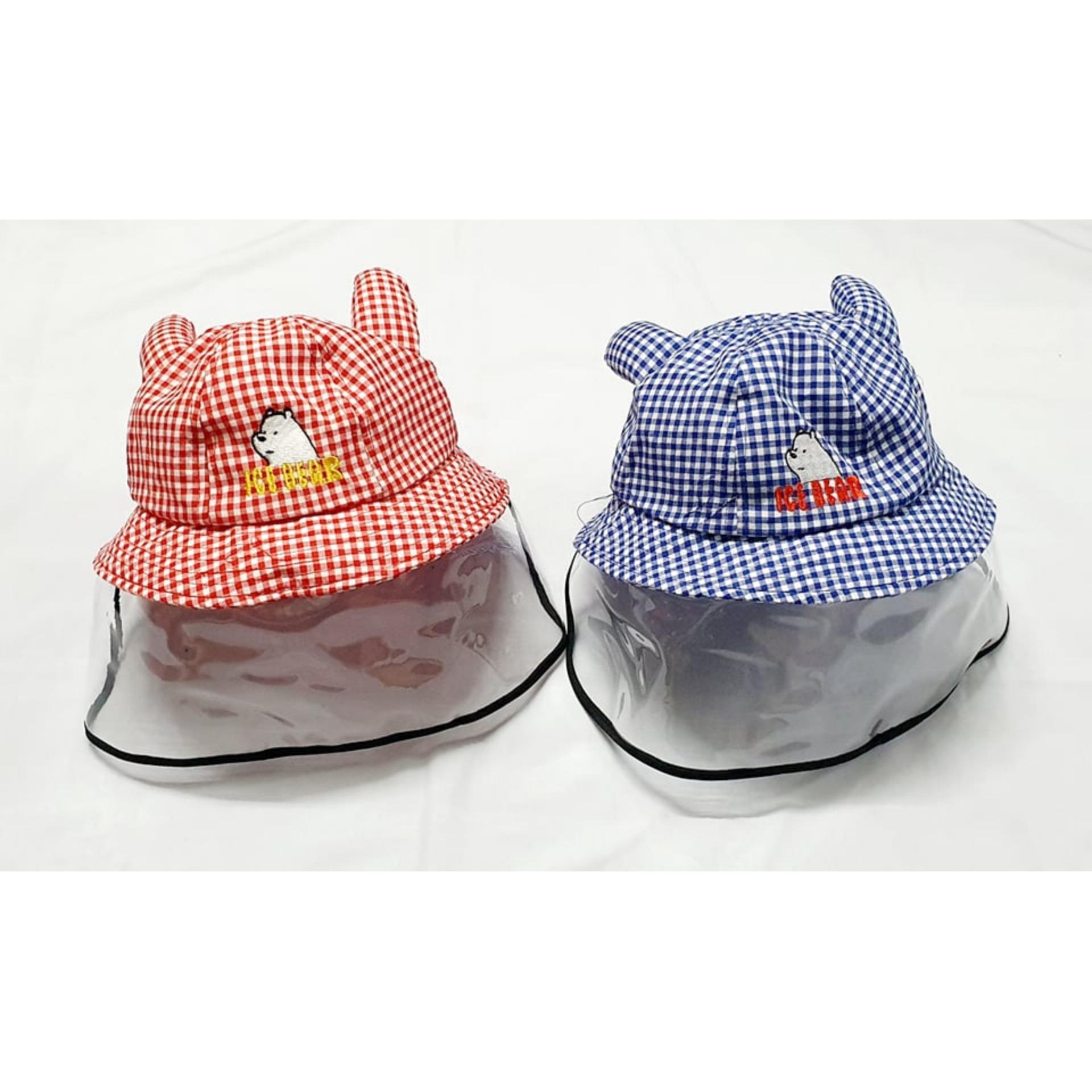 Giá bán Nón chống khói bụi cho bé có màn nhựa trong (đường kính nón 7cm)