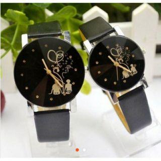 Đồng hồ cặp đôi tình nhân dây da(giá 1 cặp) thumbnail
