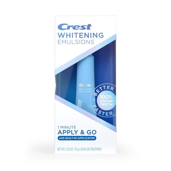 NEW 2021 - GEL tẩy trắng răng Crest Whitening Emulsions Leave-on Teeth Whitening with Wand Applicator giá rẻ