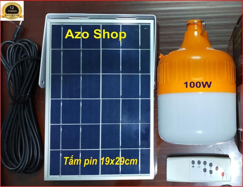 [SỐC] Đèn Bulb năng lượng mặt trời siêu sáng 100W - Hàng Xịn, Tấm pin khung nhôm cỡ lớn - Giá Rẻ - Cam