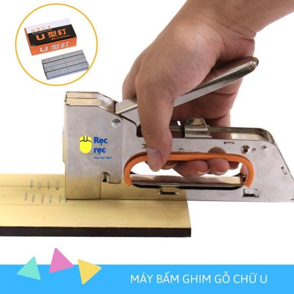 Máy bấm ghim cầm tay MBG11, Súng bắn ghim cầm tay - KHÔNG cần điện, khí nén- Ghim vào gỗ, khung tranh, tường