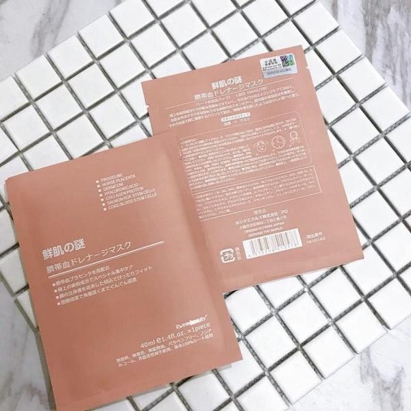 ( 1 miếng ) Mặt Nạ Nhau Thai Cừu ⚜️FREESHIP⚜️ Mặt Nạ Rwine Beauty Stem Cell Placenta Mask Nhật Bản ( Date 2022 )
