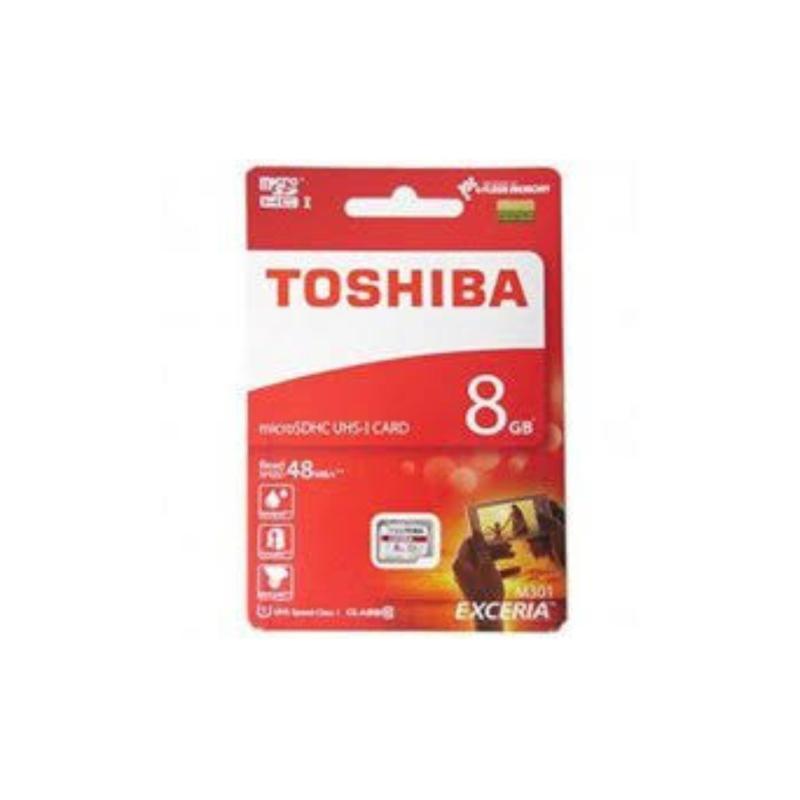 Thẻ nhớ MicroSD Toshiba 8G Box Class10 90MB/s (Đỏ)
