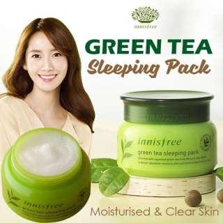 XẢ KHO-Mặt Nạ Ngủ Trà Xanh Innisfree Green Tea Sleeping pack 80ml HÀN QUỐC-DATE MỚI thumbnail