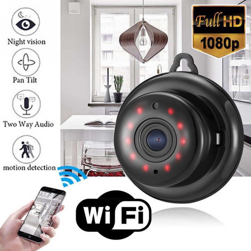 V380 Smart Mini Wifi 1080P Camera IP HD không dây Camera quan sát hồng ngoại IR có chiếu sáng Tầm nhìn ban đêm Phát hiện chuyển động Âm thanh 2 chiều Bộ theo dõi chuyển động tại nhà An ninh Gia đình Cắm điện Bật nguồnSM0220