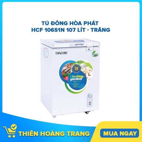 Tủ đông Hòa Phát HCF 106S1N 107 lít - trắng
