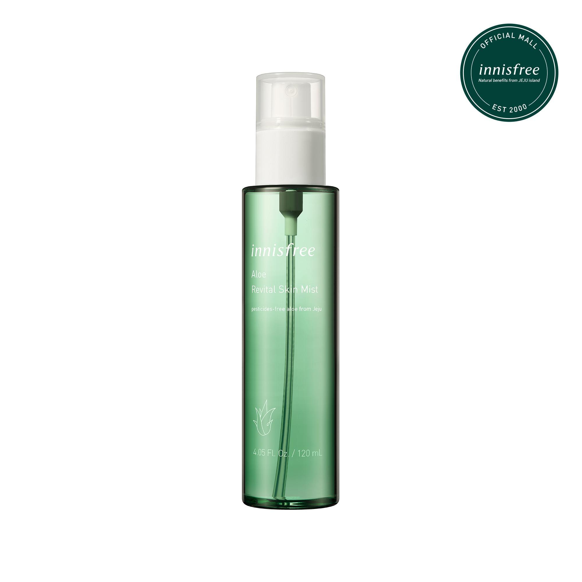 Xịt khoáng dưỡng ẩm, dịu da từ nha đam innisfree Aloe Revital Skin Mist 120ml tốt nhất