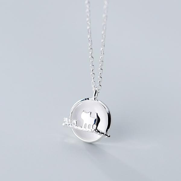 Dây Chuyền Bạc Nữ | Dây Chuyền Bạc Hình Thú 2 Mặt | Dây Chuyền Bạc S925 Cao Cấp DB2482 Bảo Ngọc Jewelry