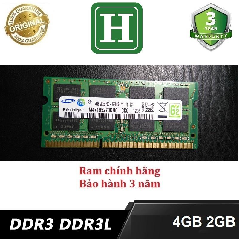 Ram Laptop DDR3L 4Gb bus 1600 - 12800s và các loại khác, bảo hành 3 năm