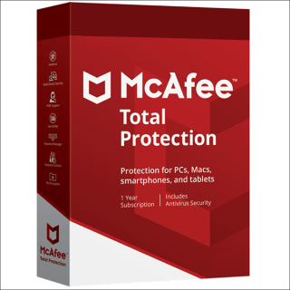Phần mềm McAfee Total Protection 1PC 1 năm thumbnail