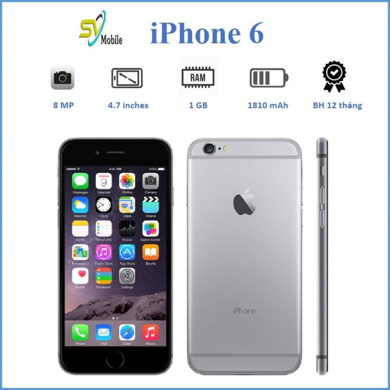 Điện Thoại iPhone 6 QUỐC TẾ 16GB. Tặng Cường Lực Tai Nghe Bộ Sạc...Bảo Hành 6 Tháng