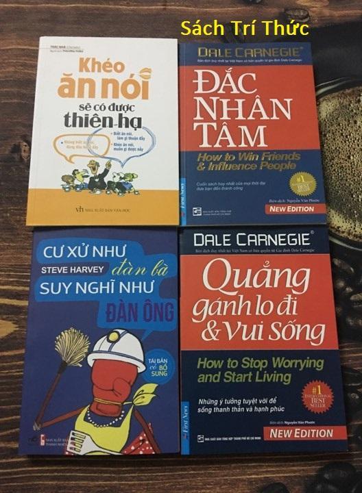 Combo 4 Sách Kỹ Năng: Khéo Ăn Nói Sẽ Có Được Thiên Hạ - Cư Xử Như Đàn Bà Suy Nghĩ Như Đàn Ông - Quẳng Gánh Lo Đi Và Vui Sống - Đắc Nhân Tâm Nhật Bản