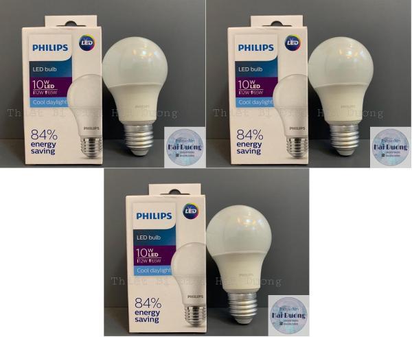 Bộ 3 Bóng đèn LED Bulb 10w E27 Philips HV 1PF/20 GMGC  (Trắng/Vàng)