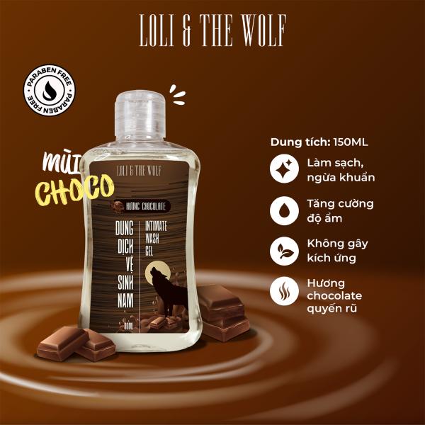 Dung dịch vệ sinh nam giới hương Chocolate lành tính, dịu nhẹ, thiên nhiên chai 80ml nhỏ gọn - LOLI & THE WOLF cao cấp