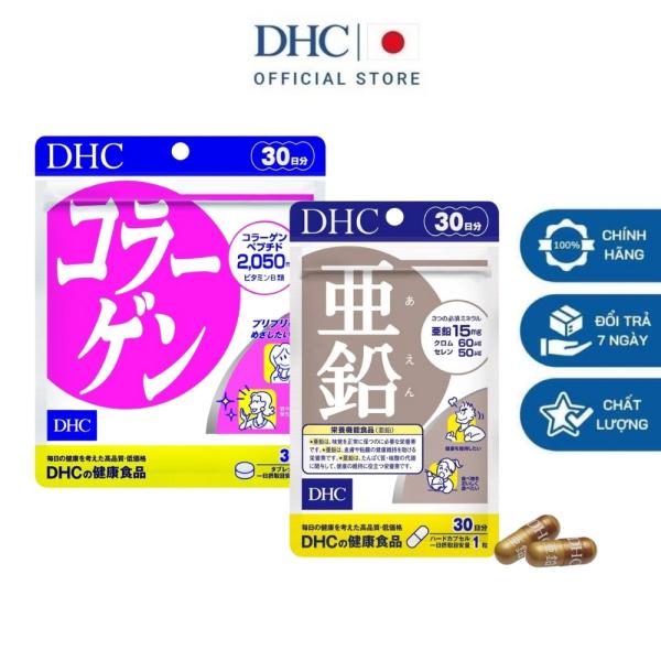 DHC Viên uống Nhật Bản bổ sung kẽm hỗ trợ rụng tóc và Collagen giúp chống lão hóa da 30 ngày nhập khẩu