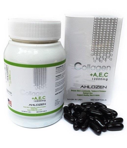 Viên Uống Đẹp Da Collagen AEC 12000mg GOLD (Hộp 180 Viên) USA