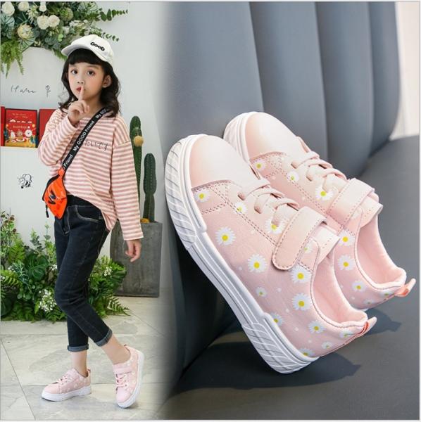 Giá bán Giày thể thao bé gái in hoa cúc - giày đi học bé gái ( Mẫu mới ) GG58