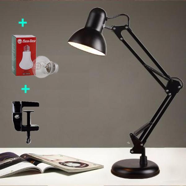 Đèn bàn kỹ thuật PIXAR để bàn hoặc kẹp mép bàn học tập, làm việc ( tặng kèm bóng ), Đèn Bàn Học Chống Cận , Đèn để bàn kiểu dáng Pixar DPX03 kèm bóng led và chân kẹp bàn đa năng , Đèn đọc sách kẹp bàn pixar đa năng xoay 360 độ