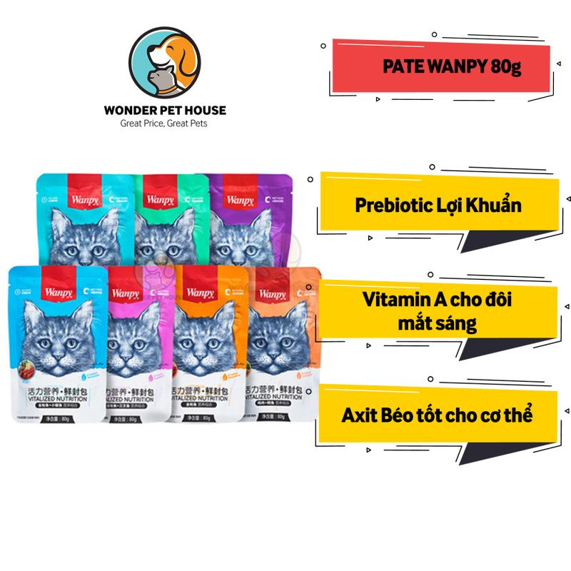 [Pate Cho Mèo] - Pate Wanpy 7 Vị 80g - Thức Ăn Ướt Cho Mèo - Dinh Dưỡng Thơm Ngon - Bổ Sung Vitamin Vi Chất