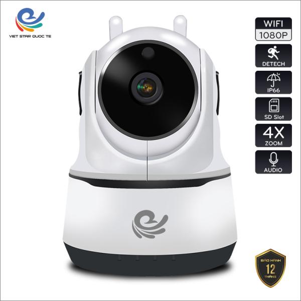 Camera WiFi IP CareCam PAF200 Độ phẩn giải 2.0MP Full HD 1080P-Hỗ trợ hồng ngoại ban đêm- 2 Râu WiFi băt sóng cực mạnh- Bảo hành 12 tháng PAF 200