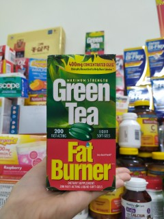 Viên uống hỗ trợ giảm cân Green Tea Fat Burner 200 viên date 2023 thumbnail