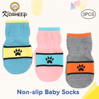 Kidsheep tất em bé Tất sàn Combo 3 đôi tất vớ màu sắc cho bé tất cho bé 1-5 tuổi loại dày