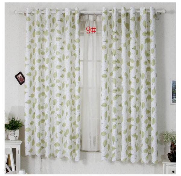 [HCM]Rèm vải treo cửa chống nắng tốt 99% vải dày (có sẵn khoen) 2M CAO LÁ XANH