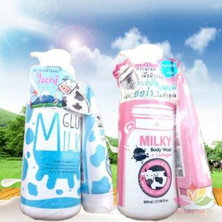 Sữa tắm, sữa rửa mặt Beauty Buffet Milk Gluta Bath Cream - Hồng thumbnail
