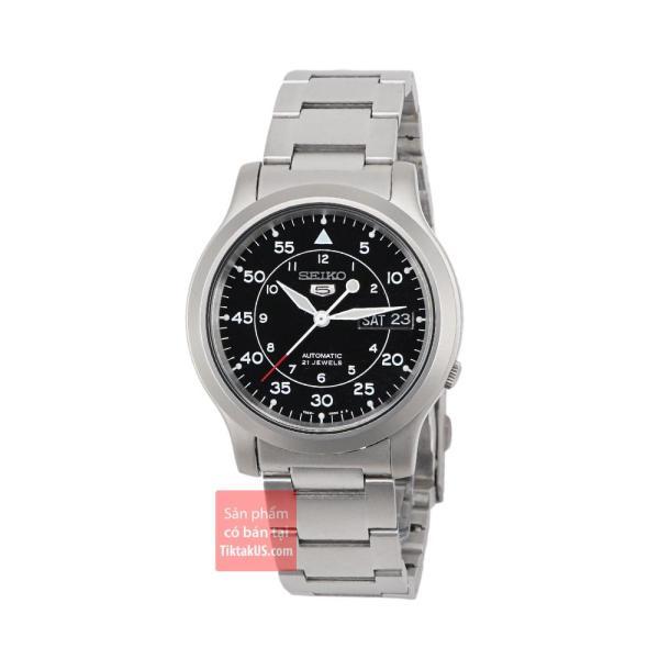 Đồng hồ nam dây thép Seiko 5 SNK809 (Đen) bán chạy