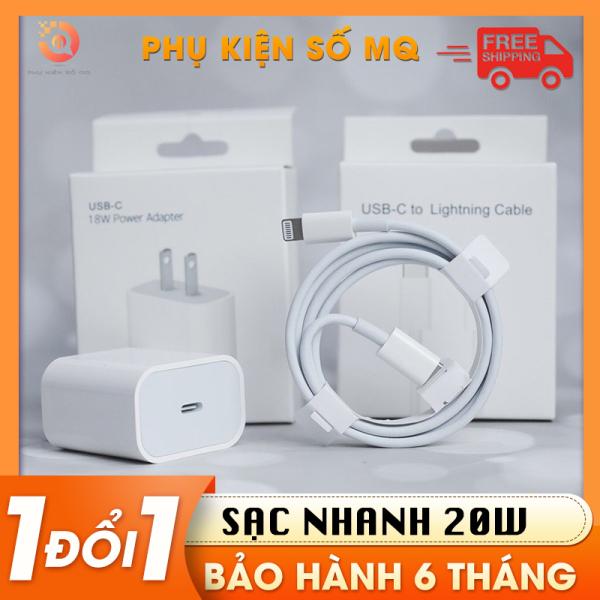 Bộ sạc nhanh PD 20W  cho iphone ipad, gồm củ xạc và dây cáp type c to lightning cho IP 6  tới  x xs xr xsmax 11 11pro 13(BH 06 tháng)
