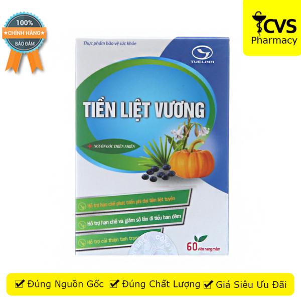 Viên uống Tiền Liệt Vương hộp 60 viên - hỗ trợ u xơ tuyến tiền liệt, giảm các triệu chứng rối loạn về tiểu tiện - cvspharmacy