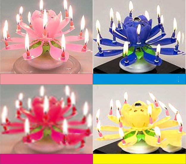 Nến sinh nhật nở hoa và phát nhạc