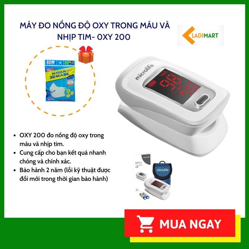 Máy đo nồng oxy trong máu SPO2 Microlife OXY200 [chính hãng]