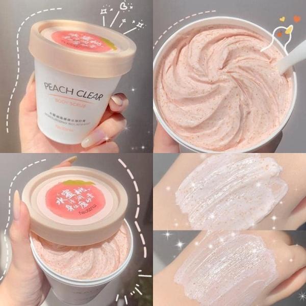 Kem Tẩy Tế Bào Chết Body Đào Peach (200ml) Cải Thiện Làn Da Sần Sùi, Xỉn Màu, Mụn Lưng, Thâm Gối