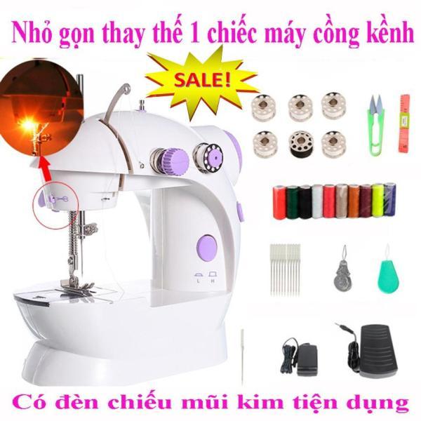 Máy may mini gia đình để bàn có đèn kéo tiện dụng máy may gia đình Loại tốt,