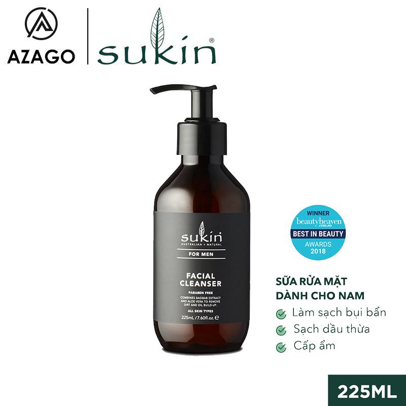 Sữa Rửa Mặt Dành Cho Nam Sukin For Men Facial Cleanser 225ml SU40AZ - SUKINVN - AZAGO