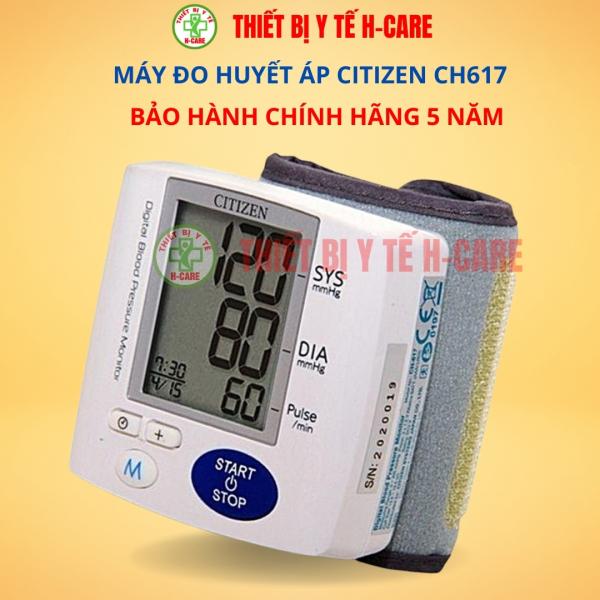 Máy đo huyết áp cổ tay điện tử Citizen (Japan) CH617 - Đo huyết áp cao thấp, nhịp tim tự động, chính xác, tin cậy - Bộ nhớ 99 kết quả, màn hình LCD lớn - Chất lượng cao giá rẻ - BH 5 năm [TBYT H-Care] bán chạy