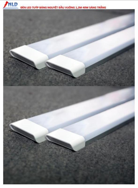 combo 4 cây đèn led thân nhôm liền máng 1.2m 40w sáng trắng.