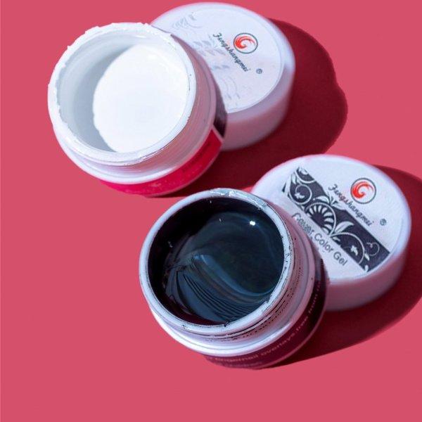Gel vẽ đen trắng Fengshangmei chính hãng - gel vẽ nổi chất đậm đặc chuyên dụng cho dân làm móng (lẻ hũ)