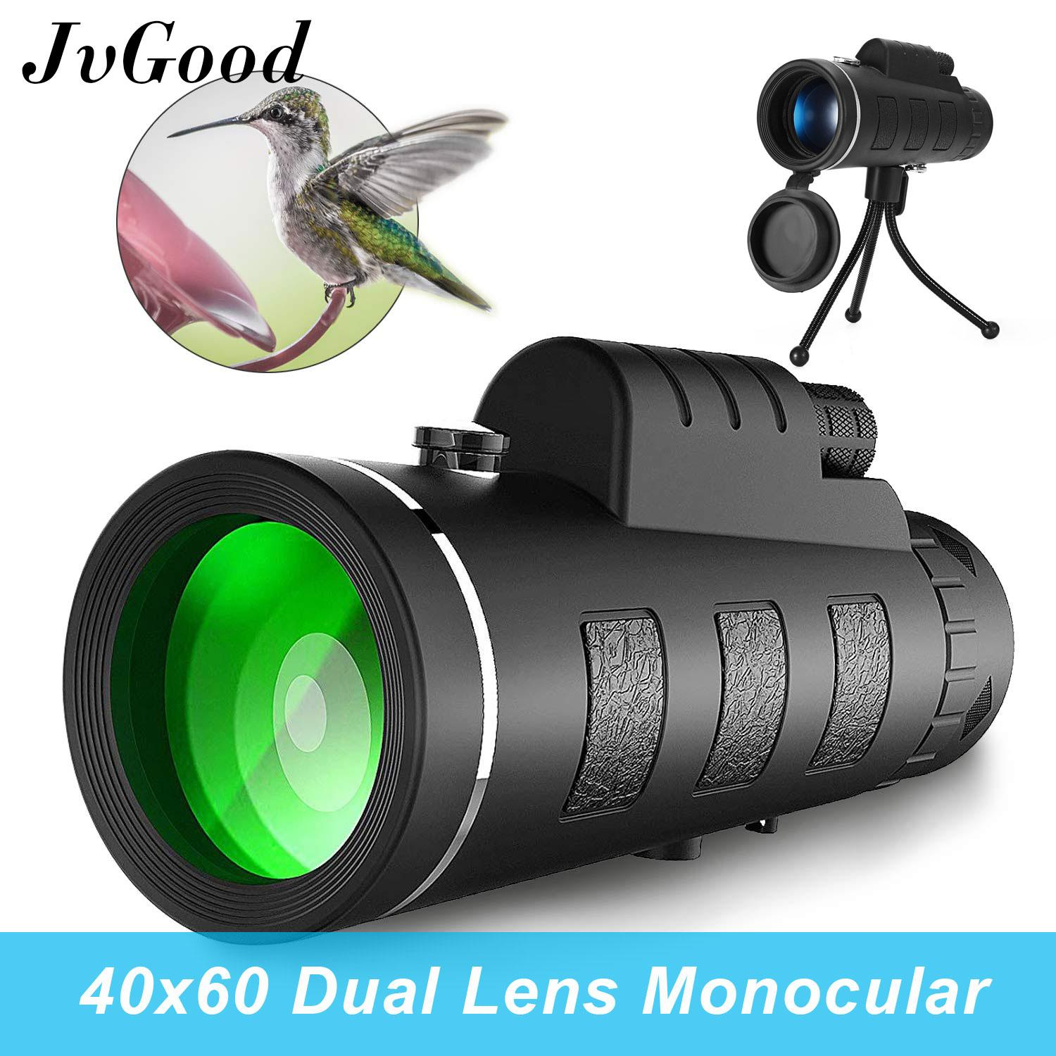Jvgood Mini Monocular Telescope Super Zoom 40 X 60 Dual Focus Night Vision Hd Monocular Prism Scope With Compass, Phone Clip Tripod, Phone Holder For Stargazing, Camping, Bird Watching, Hiking And Sports By Jvgood.