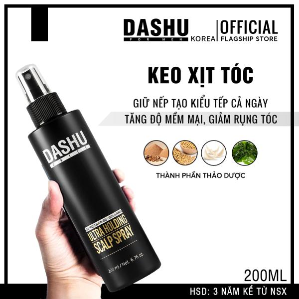 Keo xịt tóc tạo kiểu Hàn Quốc phù hợp với mọi chất tóc chính hãng Dashu Daily Ultra Holding Scalp Spray 200ml , giữ nếp lâu, bảo vệ da dầu, làm sạch gàu, giảm tình trạng rụng tóc, tạo độ phồng  dành cho nam. giá rẻ