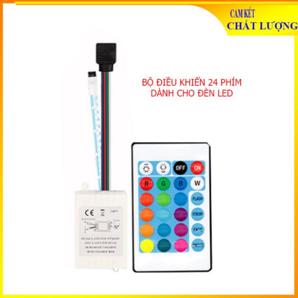 Bộ điều khiển từ xa dành cho đèn LED RGB đổi màu - Điều khiển 24 phím cho LED RGB 2835 3528 5050